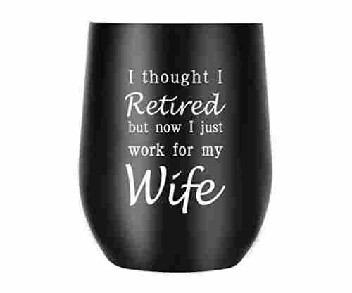 Happy Retirement – Engraved Travel Mug