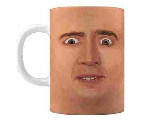 Creepy Cage Face Coffee Mug