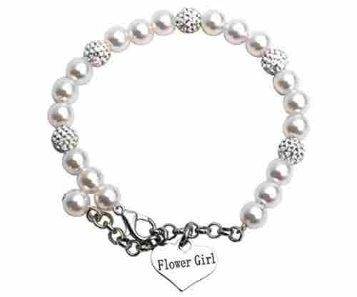 LParkin Flower Girl Pearly Bracelet