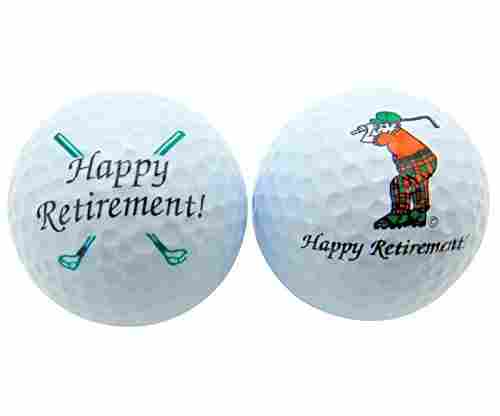 Happy Retirement Set of 2 Golf Balls