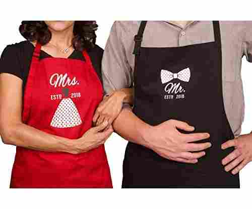 Mr/Mrs Anniversary Apron Gift – Year 2018