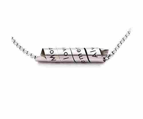 N.egret Hidden Messages Handmade Stainless Jewelry Necklace