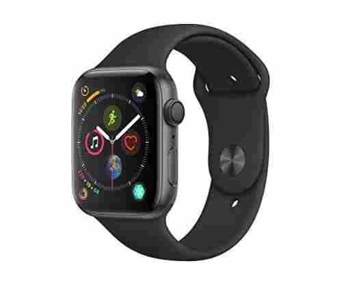Apple Watch Series 4 (GPS, 44mm) – Space Gray Aluminium Case with Black Sports Band
