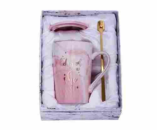Jumway – She Believed She Could, So She Did – Pink Marble Mug Set