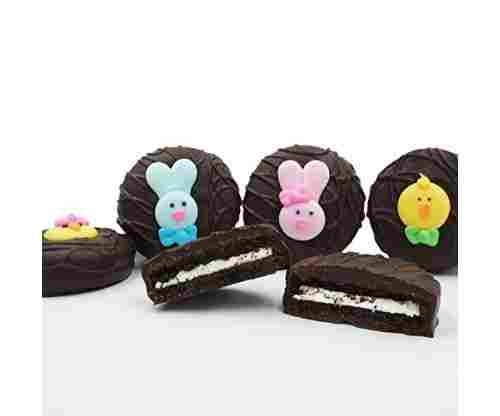 Dark Chocolate Covered OREO Cookies – Easter Faces