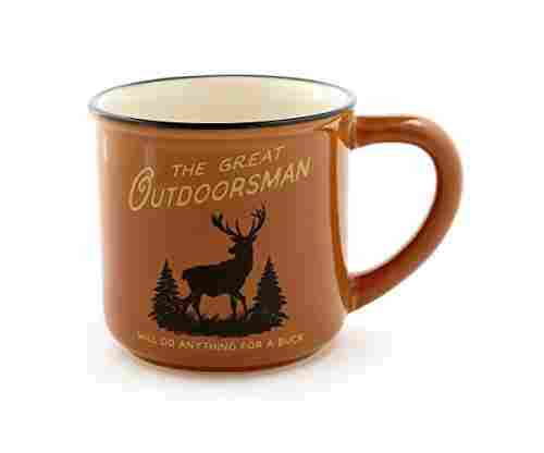 Great Outdoorsman Buck Burnt Orange Camper Coffee Mug