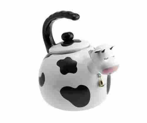 Supreme Housewares Cow Shaped Whistling Tea Kettle