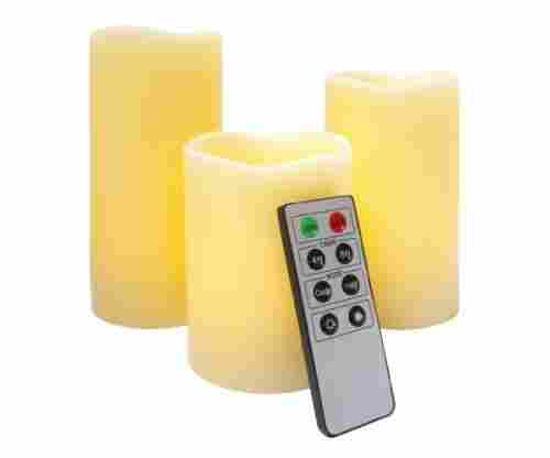 Flameless LED Candles – 3 Mooncandles with Remote Control