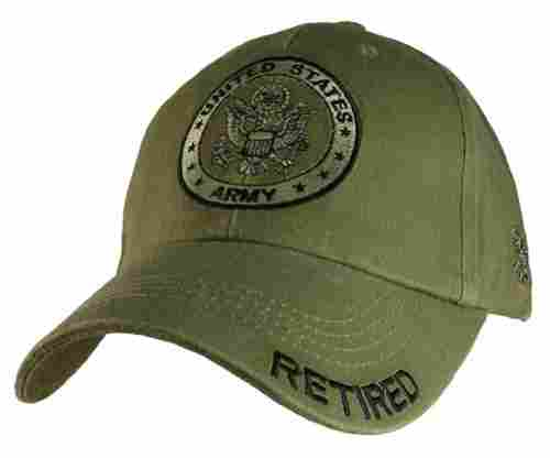 Eagle Crest U.S. Army Retired Green Baseball Cap Hat