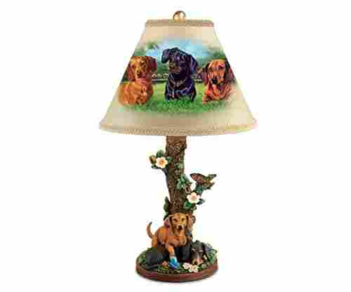 Linda Picken Darling Dachshunds Table Lamp