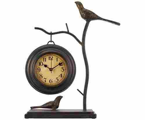 Bird N' Branch With Hanging Clock