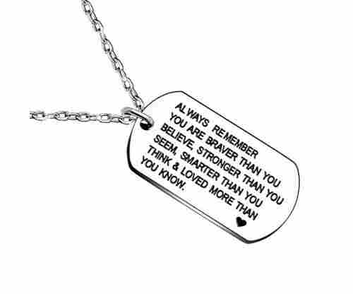 Always Remember You are Braver/Stronger/Smarter Than You Think – Necklace