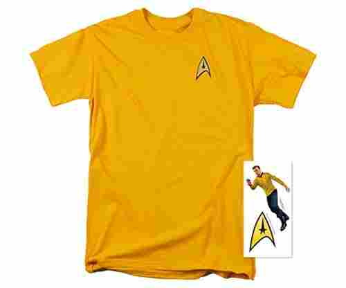 Star Trek Uniform T Shirt w/Liquid Gold Ink