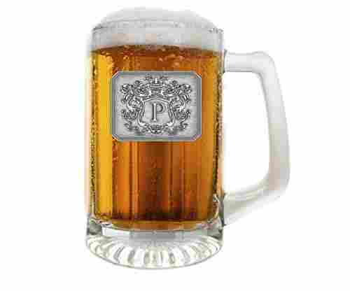 Glass Beer Pub Mug – Monogram Initial Engraved