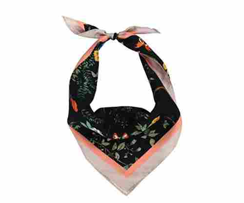 Frog Factory Colorful Women Soft Silk Bandana Scarf