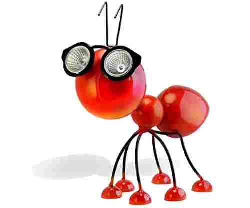 Solar Powered Garden Decoration, Metal Red Ant