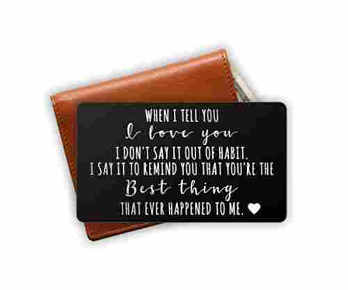 Engraved Stainless-Steel Wallet Card Insert