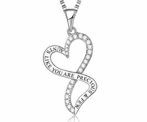 'Always My Mother Forever My Friend' Love Heart Pendant