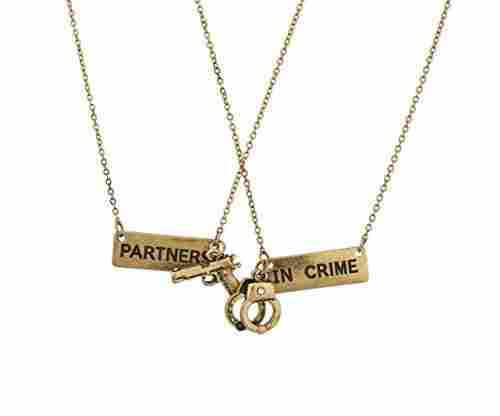 Partners In Crime Handcuff Necklace