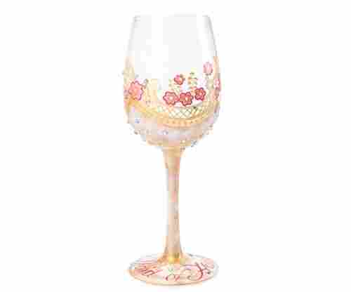Lolita Maid of Honor Artisan Painted Wine Glass