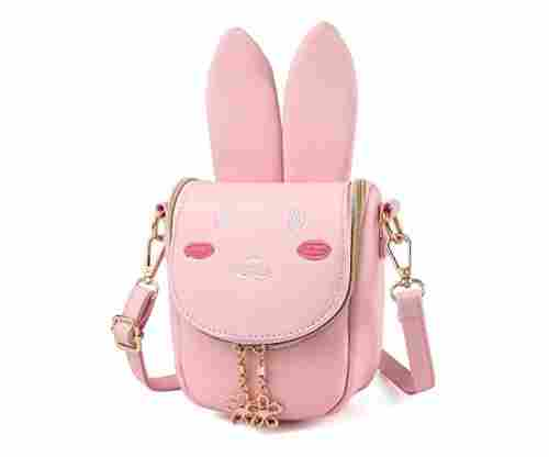 Pinky Family Super Cute Purse With Bunny Ears