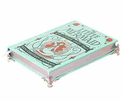 Real Hollow Book Music Box – The Little Mermaid (Leather-bound)
