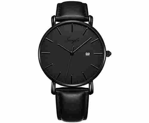 SONGDU Men's Ultra-Thin Quartz Analog Date Wrist Watch