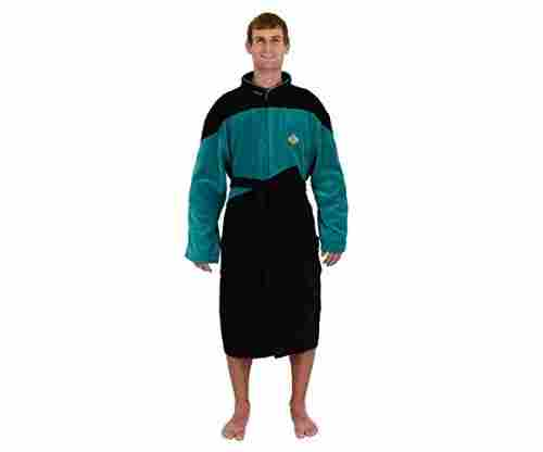 Star Trek The Next Generation TNG Green Science Costume Bathrobe