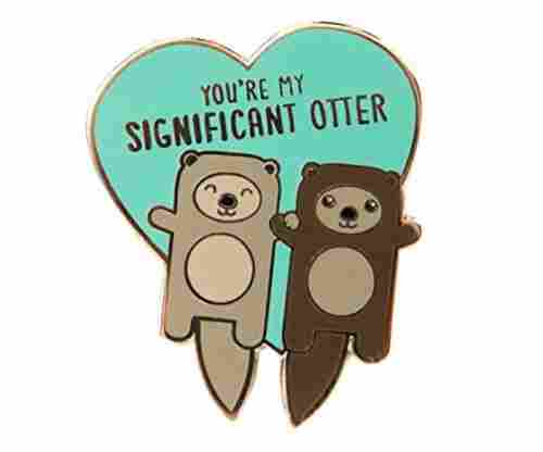 "TINY BEE CARDS – ""Significant Otter"" Otters Holding Hands Hard"