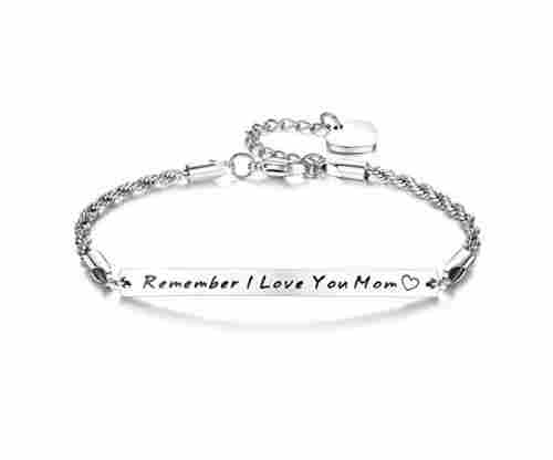 Hannay Stainless Steel Engraved Bracelet