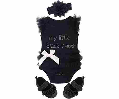 Baby Girls Lace Tutu Dress Bodysuit with Headband