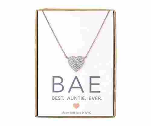A+O CZ Heart Pendant for Aunts