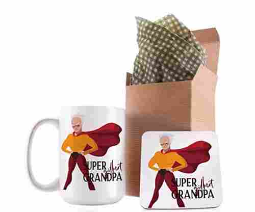 Funny Superhero Grandpa Coffee Mug