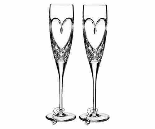 Waterford True Love Champagne Flute Pair