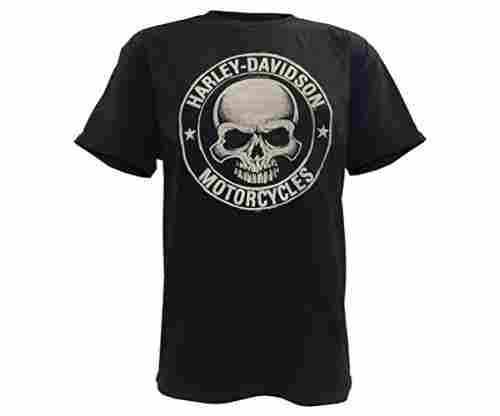 Harley-Davidson Men's Skull Badge Short Sleeve T-Shirt in Black