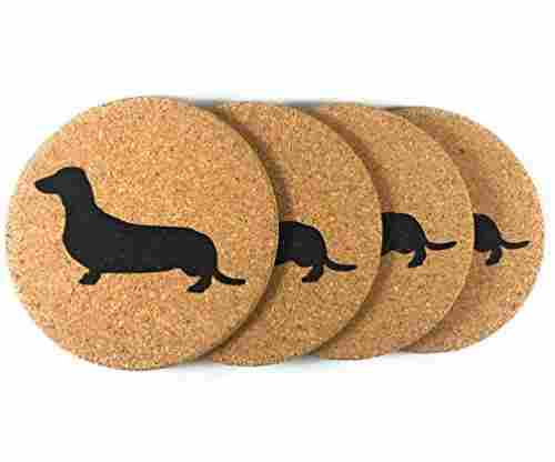 Wiener Dog 4 Pack Drink Coasters Set