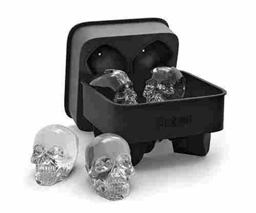 Shaped 3D Skull Silicone Ice Cube Molds