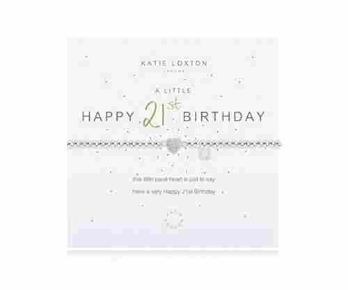 Katie Loxton A Little Happy Birthday Silver Women's Bracelet