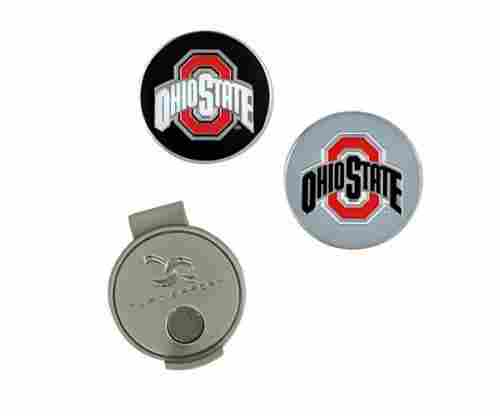 Collegiate Hat Clip & Two Ball Markers for Golf