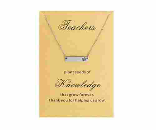 Teacher's Day Bar Necklace