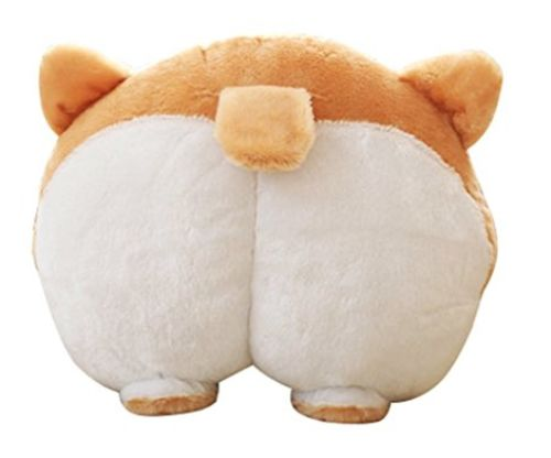 ANJUU Pets Puppy Cute Corgi Butt Throw Pillow