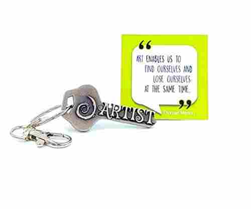Swirl Art Keychain & Inspirational Quote