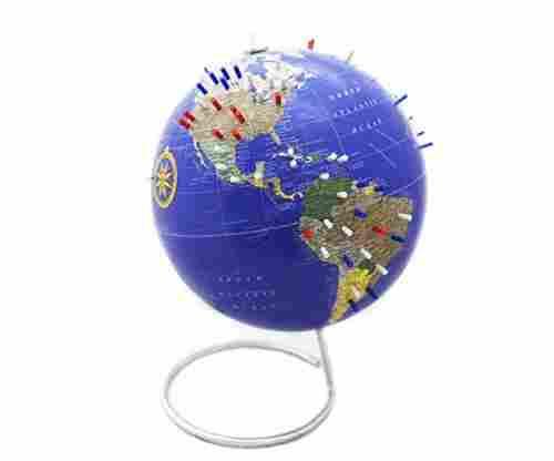 Bullseye Office Classic Blue Magnetic World Globe