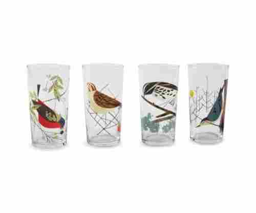 Charley Harper Birds Glasses, Box of 4