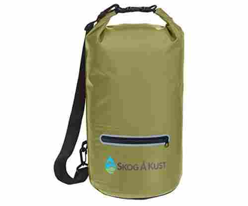 DrySak Waterproof Dry Bag with Exterior Zip Pocket
