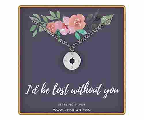 """I'd be lost without you"" Compass Necklace"