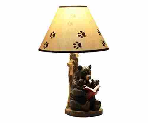 EbroMama Bear Reading to Baby Bears Table Lamp