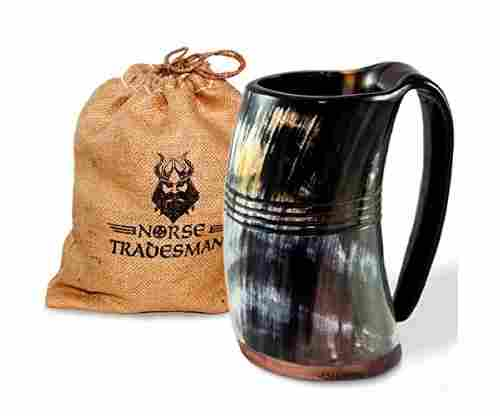 Norse Tradesman Genuine Viking Drinking Horn Mug