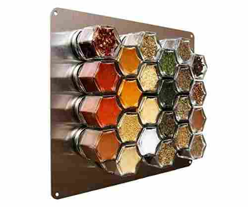 Wall Plate Base for Magnetic Spice Jars