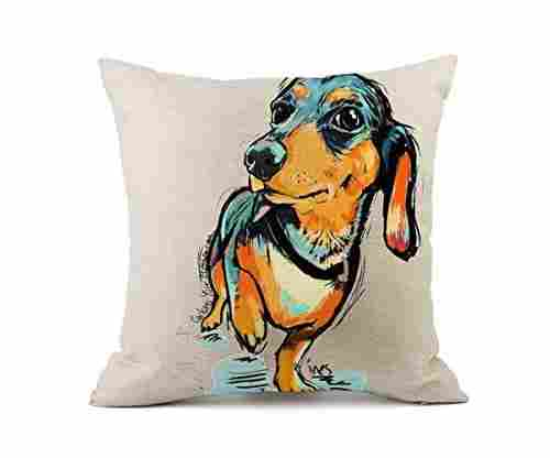 Redland Art Cute Dachshund Dog Pillow Cover